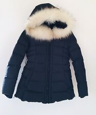 GUESS, Black,Duck Down Feather 247g,Quilted Jacket,White 'AUTHENTIC Fur Hood, XS