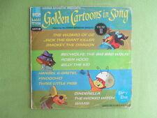 Golden Cartoons In Song (Hanna-Barbera) Lp-  Atom Ant,Secret Squirrel etc
