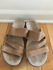 MEPHISTO AIR RELAX BEIGE STRAPPY SLIP ON SZ 38 GREAT SOLES