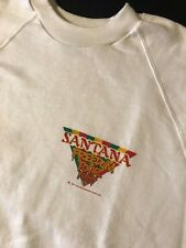 Vintage 80s 1987 Santana Freedom Concert Tour White Sweatshirt Guitar Rock