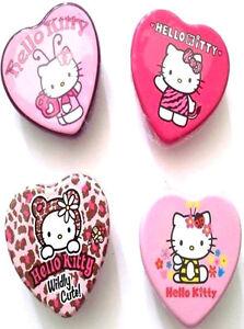YUMMY HELLO KITTY HEART TIN FLAVOUR LIP GLOSS BALM Pink Strawberry Cherry