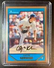 CLAYTON KERSHAW 2007 Bowman Gold Parallel THICK STOCK Rookie RC #BDPP77