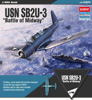 Academy 1/48 USN SB2U-3 Battle of Midway Airplane Toys Kits Military Model 12324