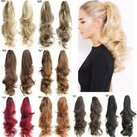 Synthetic Claw Ponytail Long Wavy Curly Layered Pony Tail Clip In Hair Extension