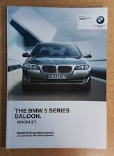 BMW 5 SERIES SALOON F10 OWNERS BOOKLET 2010-2013 PACK G-59
