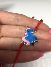 Unicorn 🦄 Silver Charm Red Cord Bracelet Handmade
