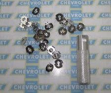 1936-1990 Chevrolet  & Truck Molding, Emblem, Ornament, Mounting Clips with Tool