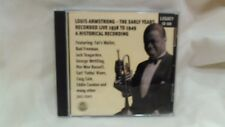 Rare Louis Armstrong The Early Years Recorded Live 1938-1949 Legacy       cd4522