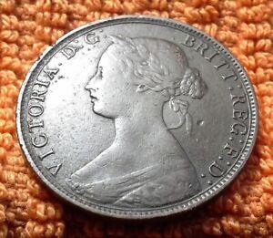 1864 Nova Scotia Large One Cent Coin - Queen Victoria