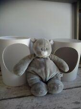 Doudou ours gris nez blanc Noukie's dans une jolie boîte neuf