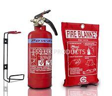 21B DRY ABC Powder Fire Extinguisher 600g+FIRE BLANKET BOAT HOME WORK. KITEMARED