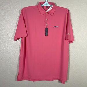 Peter Millar Summer Comfort Polo Shirt Mens XL Pink Desert Mountain Golf New