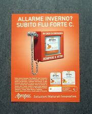 H622 - Advertising Pubblicità -2013- APROPOS , SOLUZIONI NATURALI INNOVATIVE