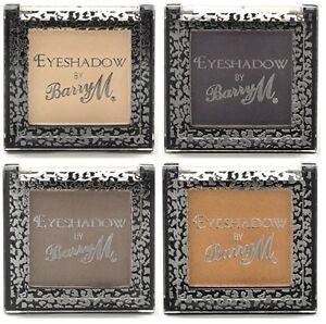 Barry M Single eyeshadow shades 1 4 11 12 cream purple bronze brown.
