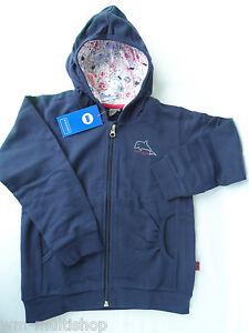 Schiesser Kinder Kapuzenpullover Sweatshirt Sweatjacke Pullover blau Gr. 104-128