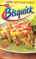 BISQUICK BETTY CROCKER COOKBOOK COWBOY BBQ CHICKEN PIZZA, TUNA COBBLER MUCH MORE