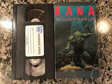 Rana The Legend Of Shadow Lake VHS! 1985 Creature Fog Horror! Swamp Thing Bog