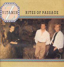 """VITAMIN Z """" RITES OF PASSAGE """"LP NUOVO 1985 RARO PRIMA EDIZIONE NO BARCODE ITALY"""