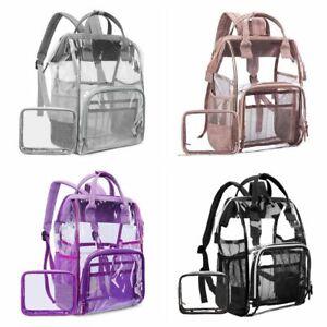 Sport Casual Transparent Clear Jelly Backpacks Women Laptop Shoulder Bag Travel