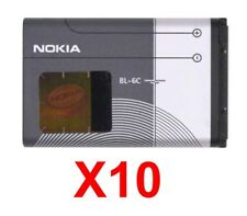 Lot Of 10 Nokia Bl-6C/Bl6C Oem Extended Battery