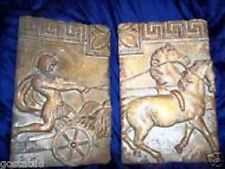 Roman gladiator molds plaster concrete set of 2 reusable moulds