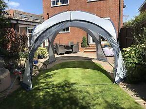 Garden Gazebo Dome Shelter Party Tent 4 Mesh Walls 2 Sun Shade Walls Huge Size !
