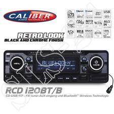 Caliber RCD120BT/B Retro Look Radio black Bluetooth CD MP3 USB SD A2DP Autoradio