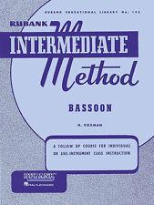 Rubank Intermediate Method – Bassoon, Intermediate Level, 40 Pages, 2 Songs, 447