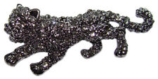 Broche CHAT style Faberge bijou fantaisie raffine Broche strass Chat sauvage
