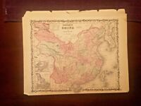 1863 Johnson & Ward Hand Colored Atlas Map of CHINA