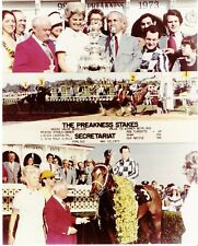 "1973 - SECRETARIAT - 3 Photo Preakness Stakes Composite - Color - 8"" x 10"""