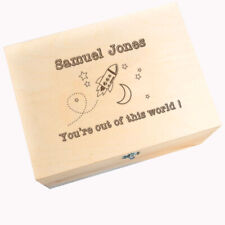 """You're Out Of This World!"" Personalised Keepsake Memory Box - Birthday Gift"