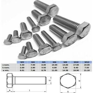 M10 M12 Hex Set Screw Bolt Full Thread Stainless Steel 304 Metric Coarse