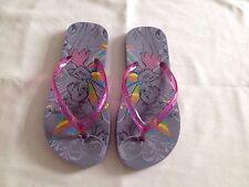 Disney Girls' Tinkerbell Pink & Grey Flip Flops Sandals Size 4 UK Very Nice