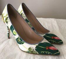 NIB J Crew Women's 7 Tropical Multi Green Jungle Print Elsie Pump Heels F1193