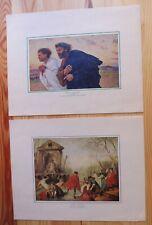 Feuillet impression peinture Nicolas Lancret Eugène Nurnand feuillet ancien