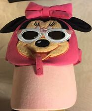 Disney Mickey Mouse With Sun Glasses Girl's Hat Pink Hat Cap