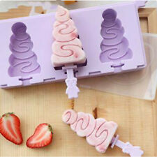 Summer Silicone Ice Cream Mold Reusable Ice Cubes Tray Frozen Popsicle Molds