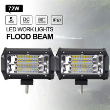 5'' Inch 72W LED Work Light Bar Flood Driving Lamp Jeep Truck Offroad Cool TKL