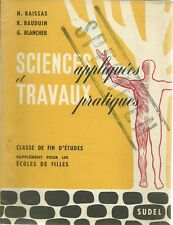 SCIENCES APPLIQUEES ET TRAVAUX PRATIQUES - 1959