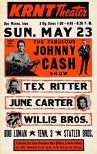 The Fabulous Johnny Cash Show POSTER 1966 Rare LARGE
