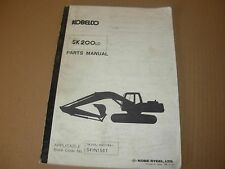 Kobelco SK200LC Excavator Parts Manual , s/n YQ02180 - up
