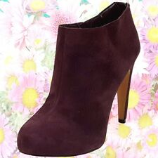 40a7d4b9a SAM EDELMAN Anthropologie Purple Suede Heel Bootie Womens 7.5 Ankle Boot