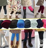 Toddler Girls Kids Winter Warm Fleece Lined Thick Leggings Skinny Pants Trousers