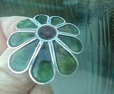 Scottish Stg. Silver & Enamel Flower / Floral Brooch Norman Grant 1978 Edinburgh