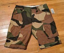 NEW G Star Raw Rovic Loose 1/2 Cargo Shorts Woodland Camo Rare Mens 33 NWT $130
