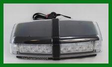 Amber 24 LED Mini Light Bar Beacon Flashing Warning Magnet Mount Clear Lens