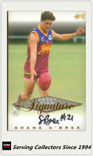1998 Select AFL Series Draft Pick Signature Card SC3: Shane O'Bree (Brisbane)
