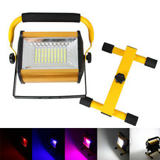 Portable 100W RGB 4modes Rechargeable LED Flood Light Work Lamp Spot 6x18650 NEW