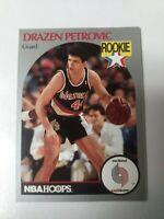 1990-91 NBA Hoops Basketball Drazen Petrovic RC #248 Blazers lot(2)
